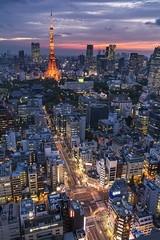 Twilight of Tokyo (mikemikecat) Tags: sunset japan clouds zeiss t landscape tokyo twilight nightscape dusk sony cityscapes carl 日本 tokyotower 東京 nightview 東京タワー cityview 東京鐵塔 夕焼け carlzeiss 暮色 浜松町 2470 たそがれ 曇り空 a7r 世界貿易センタービル sel2470z mikemikecat 世界貿易センタービルディ