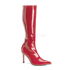 Red Patent Faux Leather Knee High Boots (shopsmileprize) Tags: red leather high boots faux knee patent