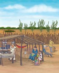 luiaurel@yahoo.com (UllisesJavier) Tags: color illustration digital photoshop colombia drawing cocina desierto dibujo ilustracin guajira etnico realista figurativo ranchera wayu luiaurel