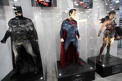 Batman, Superman & Wonder Woman statues (Gage Skidmore) Tags: california woman wonder san comic diego center superman convention batman con 2015