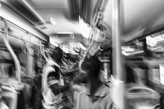 Sul Bus (Skize26) Tags: people bw italy white black bus canon eos michael italia sardinia transport bn persone pullman bianco nero cagliari mosso trasporti paulis 70d skize