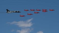 Vulcan & Red Arrows (FerretFingers) Tags: airshow vulcan redarrows raf fairford riat royalinternationalairtattoo airtattoo xh558