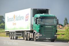 Scania R420 Bernard Matthews Farms AY58 BJJ (SR Photos Torksey) Tags: road bernard truck transport lorry commercial vehicle farms matthews scania haulage hgv lgv