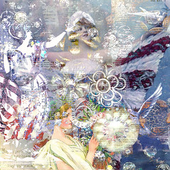 stars and stripes (button*up) Tags: red color photoshop vintage stars stripes flag mashup patriotic 4thofjuly digitalcollage whiteandblue