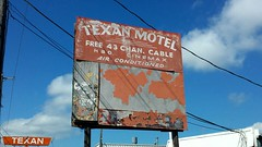 Texan Motel (karmenbizet73) Tags: art sign photography neon texas random rusty motel signage neonsign hbo texan neonsigns cinemax rustyandcrusty eyespy itsasign freecable almostforgotten 185365 photodevelopment 2015365photos