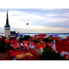 Good morning Tallinn. (rivos) Tags: morning square miniature tallinn estonia balloon overcast medieval squareformat oldtown welcometoestonia iphoneography instagramapp uploaded:by=instagram