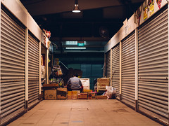 After Hours (cstreetwalker) Tags: urban shop night work canon store singapore market after hours 100d cstreetwalker