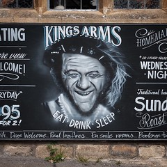 Pub Sign #pub #pubsign #sidjames #carryon... (thephilosopherstoned) Tags: portrait art artwork pub cotswolds gloucestershire carryon pubsign stowonthewold kingsarms sidjames carryonfilms uploaded:by=flickstagram instagram:photo=987867671815189982311672236