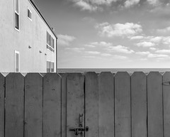 Towards (autobahn66.com) Tags: california sky water architecture clouds fence gate pacific surreal minimal oceanside ocan