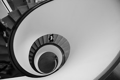 ...never ending or beginning... (explored) (stephanie_ruebenach) Tags: bw white black eye architecture stairs canon spiral dynamic wideangle treppe explore architektur weitwinkel treppenauge
