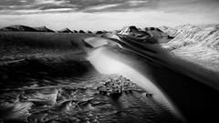 Lut Desert Iran (André Schönherr) Tags: 40d visionhunter iran shafiabad desert wüste düne dunes sand kavir loot kalut lut hot dry monochrome bw schwarzweiss blackwhite