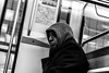 Métro solitude (::Lens a Lot::) Tags: paris | 2016 canon ef 40 mm f 28 stm 2015 7 blades iris metro gate station subway underground black white street photography noir et blanc monochrome personnes intérieur candid