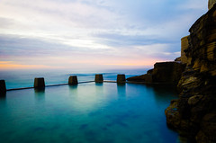 Ross Jones Memorial Pool, Coogee (thomasdwyer) Tags: ocean pool oceanpool summer sydney beach sky sunrise clouds water sea surf surfing swim swimming wave waves nsw australia sand nature seascape landscape blue green headland coogee nikon nikond5100 d5100 colour saturation