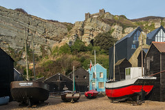 Fishing Net Huts, Boats, and Cliffs, Hastings (Peter Cook UK) Tags: hastings beach net sussex funicular railway boats huts cliff fishing