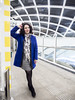 Laura, The Hague 2016: Tube roof (mdiepraam) Tags: laura thehague denhaag 2016 centraal station platform portrait pretty beautiful gorgeous attractive elegant classy dutch brunette woman lady girl naturalglamour dof boots dress scarf architecture