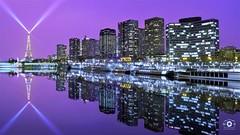 City of Lights #3 (Mika__) Tags: paris france toureiffel buildings immeubles seine lumière ville city lights reflets reflection eiffel tower landscape paysage cityscape