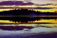 Twilight. (Papa Razzi1) Tags: 8611 2017 021365 twilight skuru straight sea water calm still reflections colors january winter sweden nikond7200 sunset 4pm