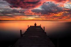 A better future... (Anto Camacho) Tags: valencia longexposure lake waterscape nature sunset sky pier valenciancommunity freedom relax calm