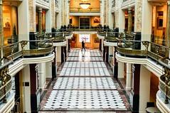Cross the Hall (Geoff Livingston) Tags: national portrait gallery hall walk marble floor architecture dc smithsonian washington street