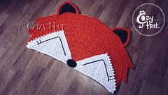 Fox Rug Handmade by Cozy Hat (Anastasia wiley) Tags: fox rug handmade crochet nursery baby shower photo prop kids room decor interior foxy mat orange