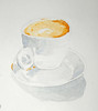 Cappuccino (lwdphoto) Tags: lance duffin lanceduffin watercolor painting art drawing sketching sketchbook cappuccino coffee