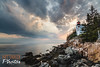 The Lighthouse (Massimo Nittardi) Tags: acadianationalpark barharbor maine me landscape clouds lighthouse water ocean rocks iconic