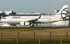 A320 Aegan (matgawron) Tags: plane planespotting airport landing gear power airbus boeing man egcc b757 ielandair a321 a320 a319 sas aegan brussels austrian embraer a170 a175a190 a195 american usa delta b763 b767 b752 b747 thomas cook easyjet ryanair vueling cathay pacific hainan b777 b773 b772 sun v1 rotate take off