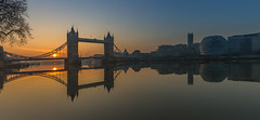 Tower Bridge Sunrise (scarlet-pimp) Tags: reflection unitedkingdom landscape riverthames sunrise london travel morelondon greatbritain cityhall uk places towerbridge thethames travelgram travelphotography panorama brilliant