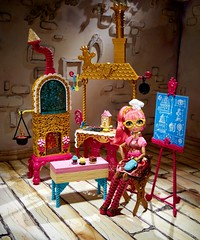 Sugar Coated Kitchen with Ginger Breadhouse Doll Play Set (The Doll Cafe) Tags: stockphotograph chx83 everafterhigh gingerbreadhouse pinkhair sugarcoatedkitchenwithgingerbreadhousedollplayset sugarcoatedkitchen