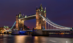 Tower bridge London (technodean2000) Tags: tower bridge london england river thames nikon d610 lightroom blue hour night lights outdoor architecture waterfront water