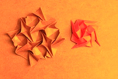Crab's Pinch & Fishies Corrugation (Andrey Hechuev | Андрей Хечуев) Tags: origami tessellations origamitessellations corrugations origamicorrugations papiroflexia dobradura pliagedepapier papercraft оригами тесселляции мозаикиоригами гофра гофрировка