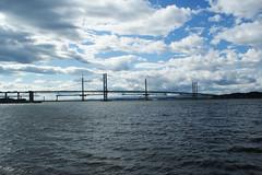 Forth Road Bridge (Suzanne's stream) Tags: firthofforth forthroadbridge bridge brücke cloudy wolkig himmel sky windig windy summer 2016 scotland europe