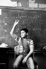 Hearing test in the refugee camp in Amman (MarwanShousher) Tags: kids children football soccer refugee amman middleeast streetphotography jordan un arab