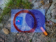 """Booklet by Adventists (""""well of love"""") and Racket as found - German Schläger = English: racket, thug, ruffian bully basher beater spanker - Annenheim Spiegel Grund Steinhof - """"an apple a day keeps the doctor away - An ENSO (circle) a Day..."""" 2. Juni 2015"""