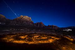 Night Time Meditation (magnetic_red) Tags: longexposure light mountains night circle desert meditation startrails