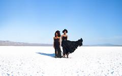 Twins (Anita Antonia) Tags: blue white lake black women attitude soda