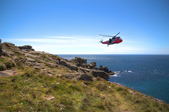Lands End Royal Navy Helicopter (3) (Rachael Webster UK) Tags: holiday colour june canon high rocks cornwall break dynamic landmark tourist helicopter landsend range hdr attraction subtle royalnavy 2015 650d subtlehdr canon650d june2015