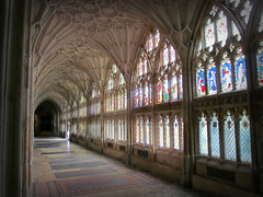 Gloucester Cathedral [Explored] (pefkosmad) Tags: building history architecture worship cathedral interior gothic medieval gloucestershire gloucester cloister middleages cloisters gloucestercathedral placeofworship hallowedground fanvaulting