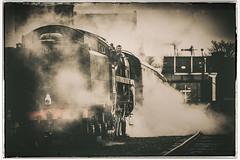 Steamy Morning.... (Aqueous Sun Photography) Tags: nikon br leicestershire railway d750 britishrail loughborough 2100 steamlocomotive greatcentralrailway britishrailways class9f 92214 niksoftware lightroom5 analogefexpro2 centralstar