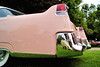 DSC03009P (Scott Glenn) Tags: car automobile bumper chrome carshow caddy tailfin pinkcadillac concoursdeleganceofsouthwestmichigan2015