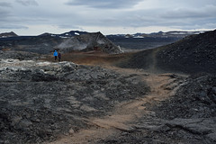 from now on walking through everything together (treble_dp) Tags: black nature field landscape lava iceland nikon couple path walk d750 emptiness leirhnjúkur