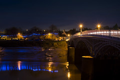 Bridging the mud (Roger.C) Tags: water wales wfc evening river riverwye chepstow wye bridge bridges old historic history southwales longexposure night nikon nocturnal nightshot d610 50mm
