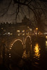 A gloomy night in Amsterdam (PaulHoo) Tags: amsterdam rain night evening 2016 light gloomy bridge cityscape city urban sinister dark cityview holland netherlands reflection nikon d700