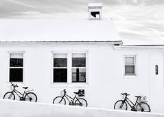 School House 215 (Daveyal_photostream) Tags: blackandwhite snow bike bicycle windows snowy snowscape nikon nikor nature meandmygear mygearandme mycamerabag motion movement d600 geometric monochrome bell schoolbell schoolhouse bnw shades plain stark angles geometricshapes spokes windowshades