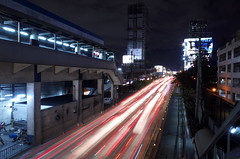 9) River of Light (Blue Nozomi) Tags: light trails home edsa manila philippines red blue white traffic flow