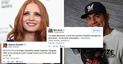 Brewers Pitcher Brazenly Mansplains Birth Control to Jessica Chastain on Twitter, Successfully Triggers Pack of Ravenous Trolls (Chikkenburger) Tags: memebase memes art trolling pranks tricks lies aot internet troll cheezburger chikkenburger