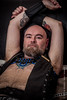 Dawg (DesertHeatImages) Tags: red dawg las vegas nevada leather furry bear cub daddy hairy boots vest harness beard goatee