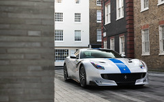 TDF. (Alex Penfold) Tags: ferrari f12tdf supercars supercar super car cars autos alex penfold 2017 london silver blue stripe mayfair