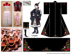 Hungary Kitsuke (Kurokami) Tags: toronto ontario canada kimono japan japanese asia asian woman women girl girls lady ladies europe european hungary hungarian kurotomesode tomesode embroider embroidery black kuro mofuku bowler hat vest skirt boot boots corset mezőkövesd matyó canadian anime north convention 2017 fashion show