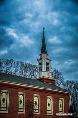 Talmo Baptist Church (The Suss-Man (Mike)) Tags: church clouds georgia jacksoncounty railroadtracks sky sonyilca77m2 street sunset sussmanimaging talmo talmopresbyterianchurch thesussman